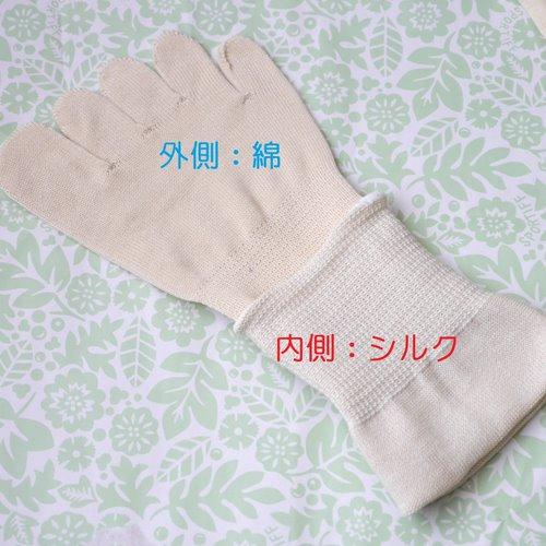シルクを綿で守る5本指ソックス_外綿内絹